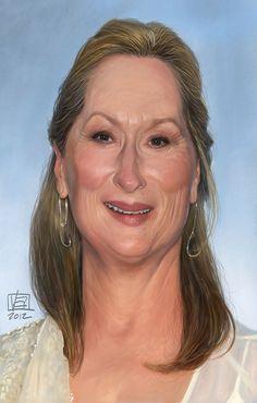 Caricatura de Meryl Streep.