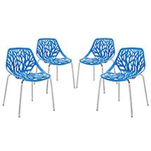 LexMod - Stencil Dining Side Chair Set of 4