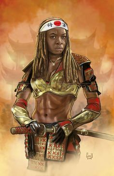 Another alternative piece… What if Michonne were a Shogun/Samurai.