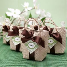 Wedding Favors & Party Supplies - Favors and Flowers :: Favor Packaging :: Favor Bags :: Mini Palm Leaf Favor Bag - 10 pcs Candy Wedding Favors, Wedding Gift Boxes, Wedding Bag, Beach Wedding Favors, Party Favors, Wedding Gifts, Wedding Souvenir, Destination Wedding, Filipiniana Wedding Theme