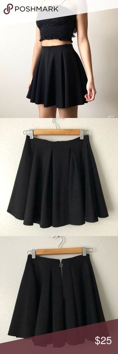 "Topshop Full Black Circle Skirt TOPSHOP Black Full Circle Skirt!   -Great Condition, Worn a few times, Size 2  -cute zipper in back, elastic waistband, no shorts underneath  -Measurements (all approx.): Waist: 24""Hips: 36""Length: 16""  -Smoke free home, ask all questions before purchasing IG: @ jadeskelton_ Topshop Skirts A-Line or Full"
