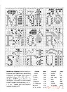 (2) Gallery.ru / Фото #1 - 64 - Clematis Christmas Alphabet Prairie Schooler 3