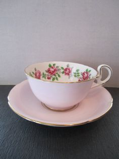 Royal Grafton Pink Teacup and Saucer Fine Bone China.