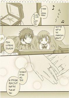 To Aru Majutsu no Index - Kamijou & Mikoto are a little embarrassed 01