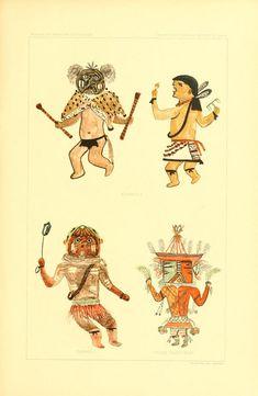 Hopi Drawings of Kachinas (1903) | The Public Domain Review