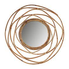 Spiegel met rotan lijst - ø60 cm | Xenos Garden Hose, House Styles, Outdoor, Mirror, Interior Ideas, Caravan, Workshop, Decoration, Google