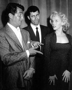 Dean Martin, Jerry Lewis and Marilyn Monroe. I love the old Dean Martin and Jerry Lewis! Hollywood Glamour, Hollywood Stars, Classic Hollywood, Old Hollywood, Jerry Lewis, Dean Martin, The Martin, Joey Bishop, Marilyn Monroe