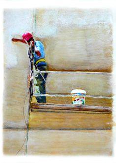 "Saatchi Art Artist Kunstbetrieb Alujevic; Painting, ""Hace"" #art"