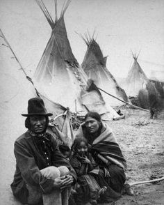 Vintage Native American Family:
