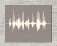16x20 Happy Anniversary Gift Personalized Message Sound Wave Art - Giclee Paper Print, Custom Color - Anniversary for Him, First Anniversary on Etsy, $67.46 CAD