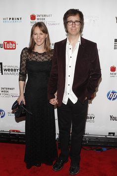 Fleur and Ben Folds stand united on the Webby red carpet.