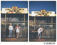 red apple tree photography: Clemson Alumni Lauren + Andy Engagement in Clemson, SC