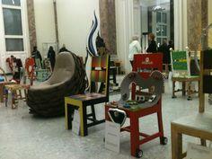 60 Stühle in der alten Staatsgalerie Stuttgart und bald bei eBay! pinned with @PinvolveLove