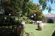 Summer 21st birthday garden party .