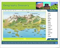 Geography Glossary de hbschool.com Teaching Geography, Social Science, Geology, Coast, Europe, English, Earth, River, Education