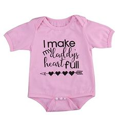 Baby Girl Casual Bodysuit Romper Jumpsuit Outfit Summer Clothes OnePiece With Sayings 39months Pink -- Want additional info? Click on the image(It is Amazon affiliate link).