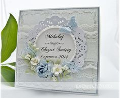 made by żyrafka Butterfly Cards, Flower Cards, Paper Flowers, Handmade Envelopes, Paper Flower Tutorial, Shabby, Some Cards, Pretty Cards, Card Tags