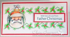 Father Christmas Stamps coloured with @SpectrumNoir