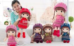 Cheap toy dolls best, Buy Quality toy funny directly from China toy story cell phone cases Suppliers: 			Product Name:Angle Girl Stuffed Soft Plush Toys Dolls For Birthday Gift				Size:45cm				Material:Plush+pp Cotton				P