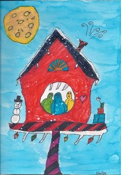 "From exhibit ""Holiday Birdhouses""  by Hailee227"