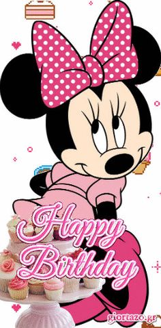 Happy Birthday Mickey Mouse Images and Cards Minnie Mouse Drawing, Minnie Mouse Clipart, Minnie Mouse Stickers, Mickey E Minnie Mouse, Mickey Mouse Drawings, Mickey Mouse Images, Minnie Mouse Pictures, Baby Mickey, Happy Birthday Mickey Mouse