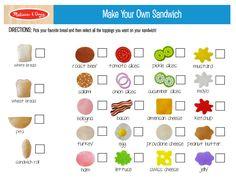 Make Your Own Sandwich Printable