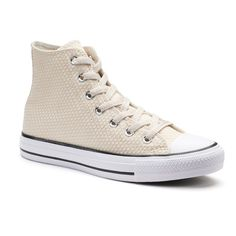 Women's Converse Chuck Taylor All Star Snakeskin-Woven High Top Sneakers, Size: 10, Natural