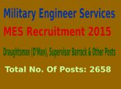 Government Jobs: MES Recruitment 2015
