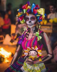 """celebrate our loved ones and remember the good times. Dia de los muertos is a beautiful time in life and in our…"""" Zombie Halloween Makeup, Scary Halloween Costumes, Up Halloween, Maquillaje Halloween, Zombie Makeup, Scary Makeup, Halloween Window Decorations, Monster Makeup, Sugar Skull Girl"""