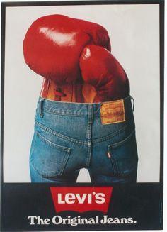 Original Vintage Poster Levi's Jeans Fashion Boxing | eBay