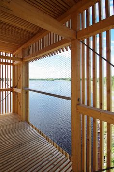 The Periscope Tower is a giant wooden periscope structure that serves as an observation tower and engages the viewer in a dialogue with the landscape. With t...