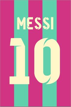 Lionel Messi #10 FC Barcelona Cotton Candy Jersey Poster Print. Why not?)