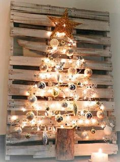 You want some timber pallet to making of DIY Pallet Tree with Lights for walls elegance of your personal house. You may use traditional timber pallets which you may get very quickly from close by in your house.