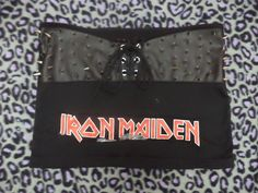 spiked lace up iron maiden crop top size by illuminaughtyclthing