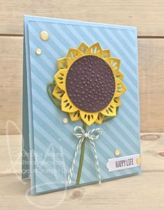 Happy Life | Stampin\' Up! | Diagonal Stripe | Tabs for Everything #literallymyjoy #sunflower #flower #happiness #happylife #life #20172018AnnualCatalog