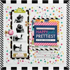 Happy Girls are the Prettiest scrapbook layout by Stephanie Buice for SCTMagazine