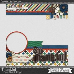 FREE Thankful Quick Page Freebie By Deanna from Connie Prince
