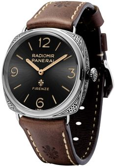 """Panerai Radiomir Firenze 3 Days PAM672 Watch With Engraved Case & Movement - on aBlogtoWatch """"Remember that rather stunning-looking Radiomir PAM604 with the hand-engraved case...? Well, if you thought that was cool, then you'll be glad to hear that Panerai is upping the ante with the new Panerai Radiomir Firenze 3 Days PAM672, a new special edition of just 99 pieces announced today, that now boasts both a hand-engraved stainless steel case as well as a laser-engraved in-house movement..."""""""