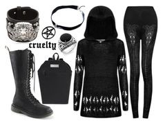 """cruelty"" by dysdaimona on Polyvore featuring Mode, Mephisto, Demonia und GFase"