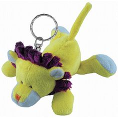 What's not to love about a lion with a purple mane! :) Lion Plush Keychain Stuffed Animal by Puzzled