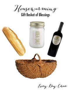 Housewarming Gift Basket Plus Gift Labels - http://everydaycheer.com/2014/04/23/housewarming-gift-basket/