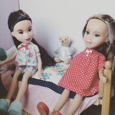 """Pajama and Nightgown Sewing Pattern for Rescued Dolls- fits Bratz, Skipper, Moxie and other 9.5"""" dolls"""