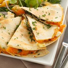 This sweet potato quesadilla recipe is satisfying on so many levels.. Sweet Potato Quesadilla Recipe from Grandmothers Kitchen.