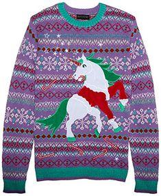 dafa3c5fe13 Blizzard Bay Men s Santa Suit Unicorn Ugly Christmas Sweater with LED lights