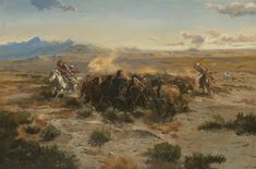 Sid Richardson Museum: Buffalo Hunt by Charles M. Russell