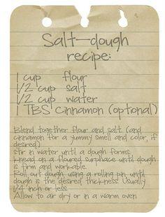 recept brooddeeg om te knutselen