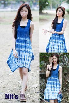 Indigo dress by Nit's