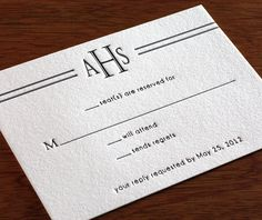 parkavenue letterpress wedding invitation by invitations by ajalon