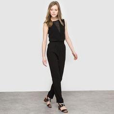 j'adopte la combinaison total black pour un look ultra sophistiqué !   #totalblack #combilove #chic