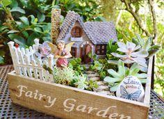 Fairy Garden Cottage House with Swinging by BeachCottageBoutique